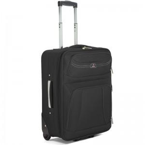 Valise cabine extensible BENZI 55cm noir   Bagage avion pas cher