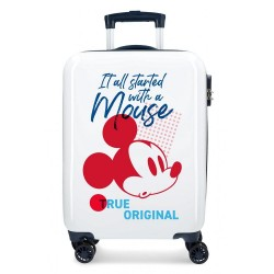 """Valise cabine DISNEY Mickey """"It all started"""" - blanc"""