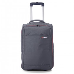 """Valise cabine pliable 2 roues BENZI """"New"""" - gris"""