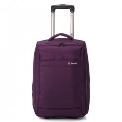 "Valise cabine pliable 2 roues BENZI ""New"" - violet"