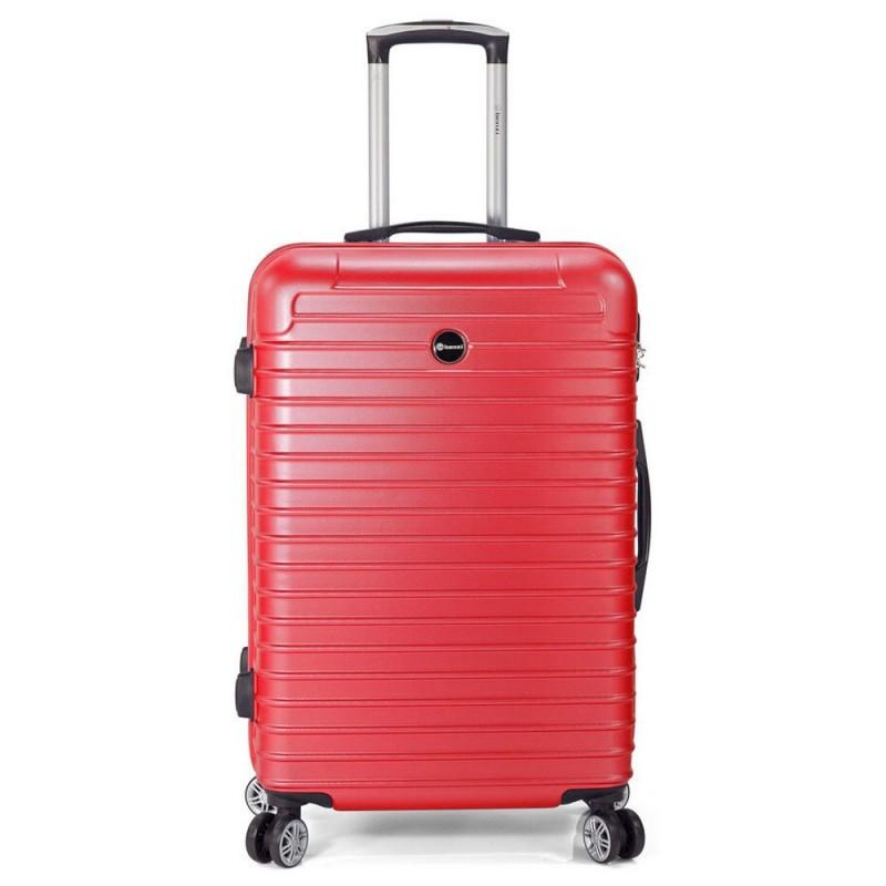 """Valise medium 66 cm BENZI """"Stripes"""" - rouge"""