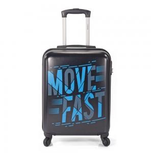 """Valise cabine imprimée BENZI """"Move Fast"""" - noir"""