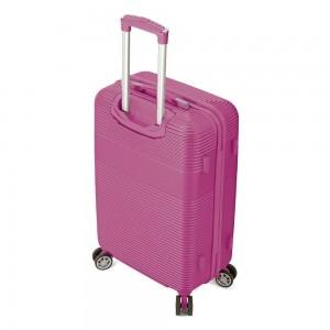 """Valise femme taille medium 66 cm BENZI """"Lines"""" - rose"""