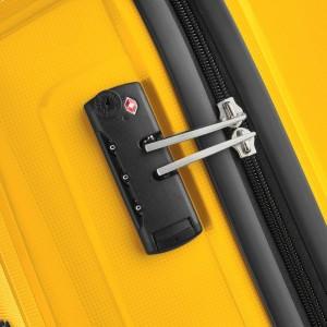 "Valise cabine 55 cm DELSEY ""Brisban"" - jaune"