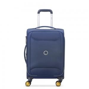 "Valise cabine souple 55 cm slim DELSEY ""Chartreuse"" - bleu nuit"
