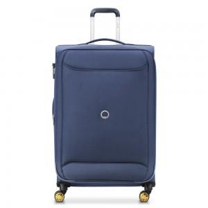 """Grande valise souple extensible 78cm DELSEY """"Chartreuse"""" - bleu nuit"""
