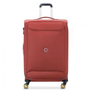 """Grande valise souple extensible 78cm DELSEY """"Chartreuse"""" - rouge foncé"""