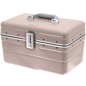 """Vanity case rigide DAVIDTS """"Betty"""" beige taupe en polycarbonate léger robuste qualité supérieure pas cher"""