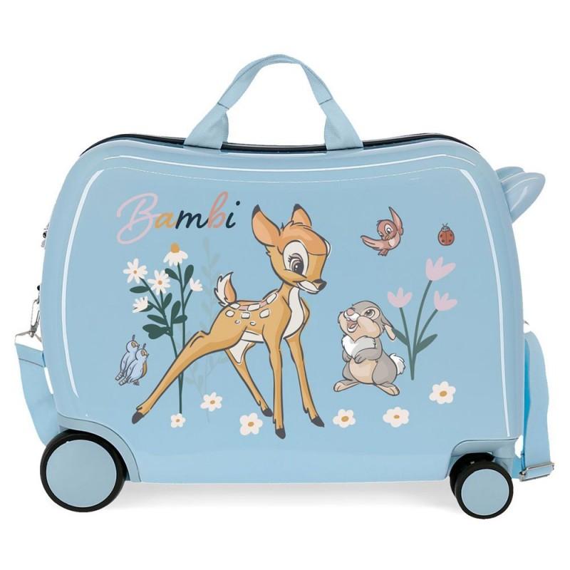 """Valise trotteur enfant Disney BAMBI """"Before the bloom"""" bleu ciel bagage ludique"""