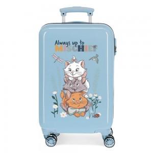 Valise cabine enfant DISNEY Les Aristochats bleu ciel