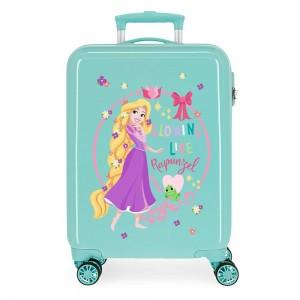 Valise cabine fille DISNEY Princesse Raiponce vert menthe