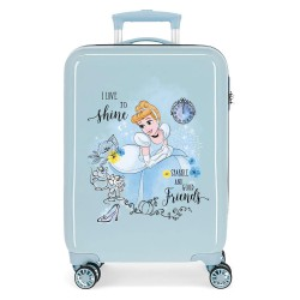Valise cabine fille DISNEY Princesse Cendrillon bleu ciel