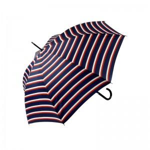"""Parapluie long LE PARAPLUIE FRANÇAIS """"Rayures"""" marine made in France"""