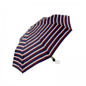 """Parapluie pliant LE PARAPLUIE FRANÇAIS """"Rayures"""" marine made in France"""