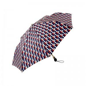 """Parapluie pliant LE PARAPLUIE FRANÇAIS """"Géométrique"""" marine made in France"""