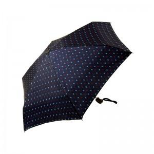 """Parapluie pliant LE PARAPLUIE FRANÇAIS """"mini ancres"""" bleu marine made in France"""