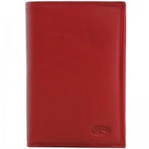 Portefeuille en cuir de vachette lisse - Rouge