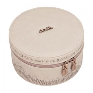 Grande boîte à bijoux femme ANEKKE rose pâle