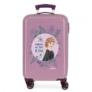 "Valise cabine LA REINE DES NEIGES ""Embrace all that is you"" violet Disney Princesse Anna"