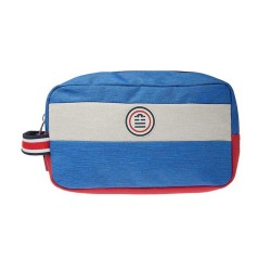 "Trousse de toilette homme SERGE BLANCO ""Blue Star"" bleu rouge"