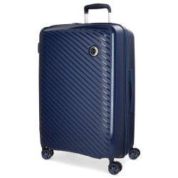 """Valise taille moyenne extensible 66cm MOVOM """"Tokyo"""" marine - bagage pas cher 1 semaine"""