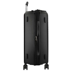 """Valise taille moyenne extensible 66cm MOVOM """"Tokyo"""" noir - bagage pas cher 1 semaine"""