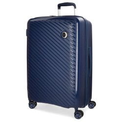 "Valise grande taille extensible 78cm MOVOM ""Tokyo"" bleu marine - bagage grand format pas cher 2 semaines"