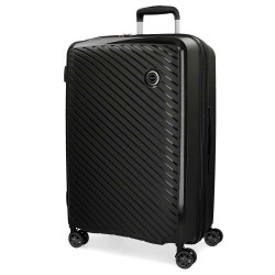 "Valise grande taille extensible 78cm MOVOM ""Tokyo"" noir - bagage grand format pas cher 2 semaines"