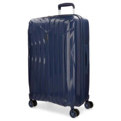 """Valise taille moyenne extensible 66cm MOVOM """"Fuji"""" bleu marine - bagage 1 semaine pas cher"""
