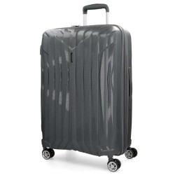 "Grande valise extensible 77cm MOVOM ""Fuji"" gris - bagage grande taille 2 semaines pas cher"