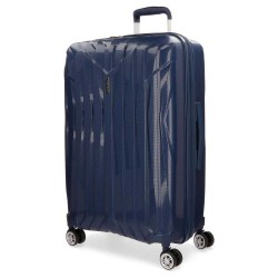"Grande valise extensible 77cm MOVOM ""Fuji"" bleu marine - bagage grande taille 2 semaines pas cher"