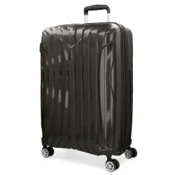 "Grande valise extensible 77cm MOVOM ""Fuji"" noir - bagage grande taille 2 semaines pas cher"