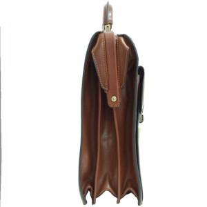 Cartable cuir 3 soufflets KATANA - Noir