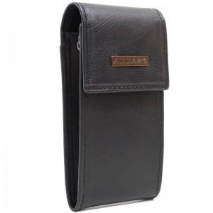 Porte-clés en cuir AZZARO - noir