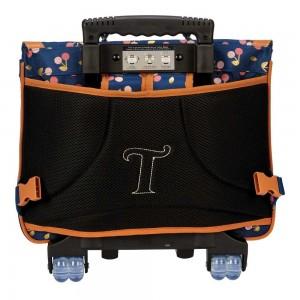 """Cartable à roulettes TANN'S 38 cm """"Alexa"""" - marine"""