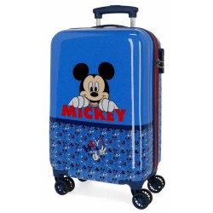 "Valise cabine enfant garçon Disney MICKEY ""Moods"" bleu"