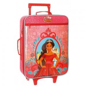 Valise cabine souple enfant princesse ELENA D'AVALOR - rouge