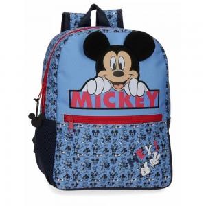 "Sac à dos maternelle Disney MICKEY ""Moods"" 32cm - bleu"