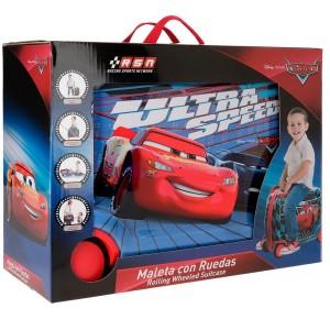 """Valise trotteur enfant voiture CARS """"Ultra Speed"""" bleu/rouge"""