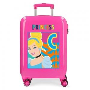 "Valise cabine fille DISNEY Princess ""Cendrillon"" - rose"
