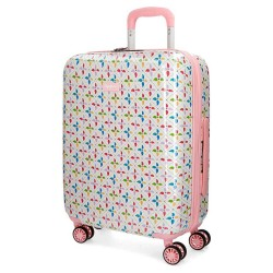 """Valise cabine fille PEPE JEANS """"Tina"""" - blanc/rose"""