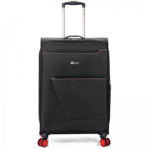"Valise cabine extensible semi-rigide BENZI ""Atoll"" noir   bagage léger pas cher"
