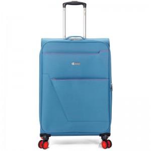 "Valise cabine extensible semi-rigide BENZI ""Atoll"" bleu   bagage léger pas cher"