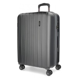 """Valise extensible 75cm MOVOM """"Wood"""" anthracite 