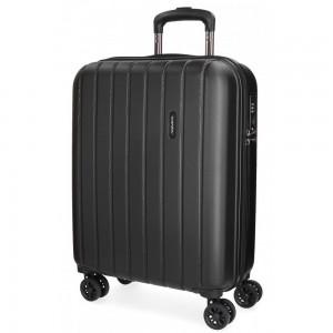 """Valise cabine 55cm MOVOM """"Wood"""" noir   Bagage à main avion pas cher"""