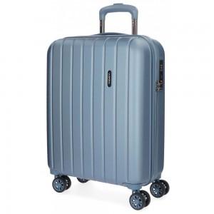 """Valise cabine 55cm MOVOM """"Wood"""" bleu silver   Bagage à main avion pas cher"""