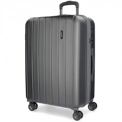 """Valise extensible 65cm MOVOM """"Wood"""" gris 