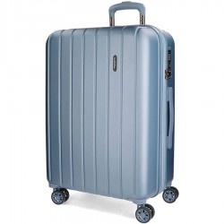 """Valise extensible 65cm MOVOM """"Wood"""" bleu 