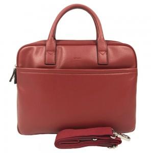 Cartable femme en cuir 2 cpts KATANA rouge   Sacoche porte-ordinateur femme pas cher