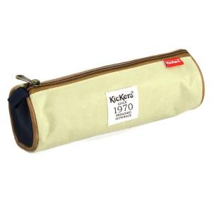Trousse ronde Kickers 22 * 7,5 cm bleu/beige